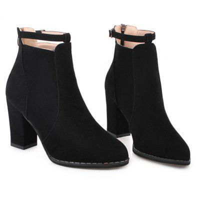 Autumn and Winter New Korean Pointed Rough  BootsWomens Boots<br>Autumn and Winter New Korean Pointed Rough  Boots<br><br>Boot Height: Ankle<br>Boot Tube Circumference: 26<br>Boot Tube Height: 10.5<br>Boot Type: Fashion Boots<br>Closure Type: Zip<br>Gender: For Women<br>Heel Height: 8.5<br>Heel Height Range: High(3-3.99)<br>Heel Type: Chunky Heel<br>Insole Material: PU<br>Lining Material: Synthetic<br>Outsole Material: Rubber<br>Package Contents: 1?Shoes?pair?<br>Pattern Type: Solid<br>Season: Winter, Spring/Fall<br>Shoe Width: Medium(B/M)<br>Toe Shape: Pointed Toe<br>Upper Material: Flock<br>Weight: 3.0000kg