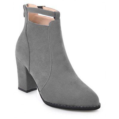 Buy GRAY 40 Autumn and Winter New Korean Pointed Rough Boots for $32.21 in GearBest store