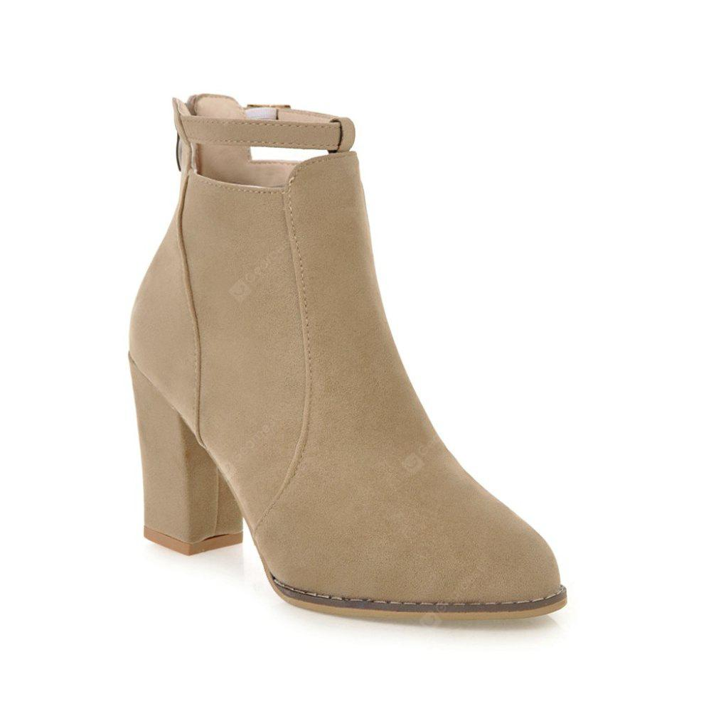 CAMEL 35 Autumn and Winter New Korean Pointed Rough Boots