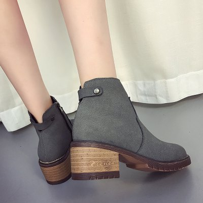 Korean Version Thick and Round Head Suede Martin BootsWomens Boots<br>Korean Version Thick and Round Head Suede Martin Boots<br><br>Boot Height: Ankle<br>Boot Type: Fashion Boots<br>Closure Type: Zip<br>Gender: For Women<br>Heel Height: 3<br>Heel Height Range: Low(0.75-1.5)<br>Heel Type: Flat Heel<br>Insole Material: PU<br>Lining Material: PU<br>Outsole Material: Rubber<br>Package Contents: 1?Shoes(pair)<br>Pattern Type: Solid<br>Season: Spring/Fall, Winter<br>Shoe Width: Medium(B/M)<br>Toe Shape: Round Toe<br>Upper Material: Flock<br>Weight: 1.8000kg