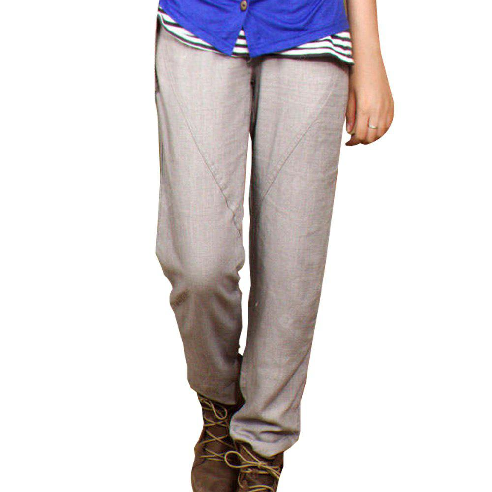 Women's Casual Pant Loose Solid All Match Mid Waist Top Fashion Pant