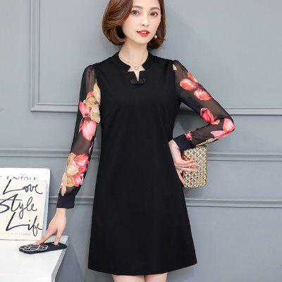Womens Dress Chic Elegant Floral Patchwork V Neck Long Sleeve Aline DressWomens Dresses<br>Womens Dress Chic Elegant Floral Patchwork V Neck Long Sleeve Aline Dress<br><br>Dresses Length: Knee-Length<br>Elasticity: Micro-elastic<br>Fabric Type: Worsted<br>Material: Polyester<br>Neckline: V-Neck<br>Package Contents: 1 x Dress<br>Pattern Type: Solid<br>Season: Fall, Winter<br>Silhouette: A-Line<br>Sleeve Length: Long Sleeves<br>Style: Casual<br>Weight: 0.8000kg<br>With Belt: No
