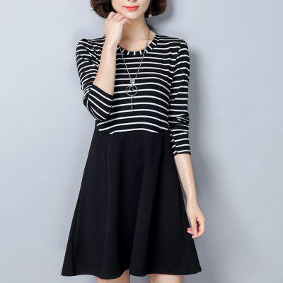 Womens Aline Dress Chic Elegant Stripe Patchwork O Neck Long Sleeve Slim Midi DressWomens Dresses<br>Womens Aline Dress Chic Elegant Stripe Patchwork O Neck Long Sleeve Slim Midi Dress<br><br>Dresses Length: Knee-Length<br>Elasticity: Micro-elastic<br>Fabric Type: Worsted<br>Material: Polyester<br>Neckline: Round Collar<br>Package Contents: 1 x Dress<br>Pattern Type: Striped<br>Season: Fall, Winter<br>Silhouette: A-Line<br>Sleeve Length: Long Sleeves<br>Style: Casual<br>Weight: 0.8000kg<br>With Belt: No