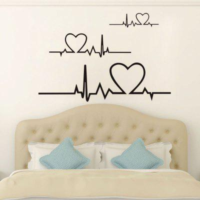 DSU Heart Beat ECG Wall Sticker Art Decal