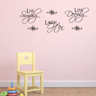 DSU Love Quotes Wall Sticker for Home Decoration