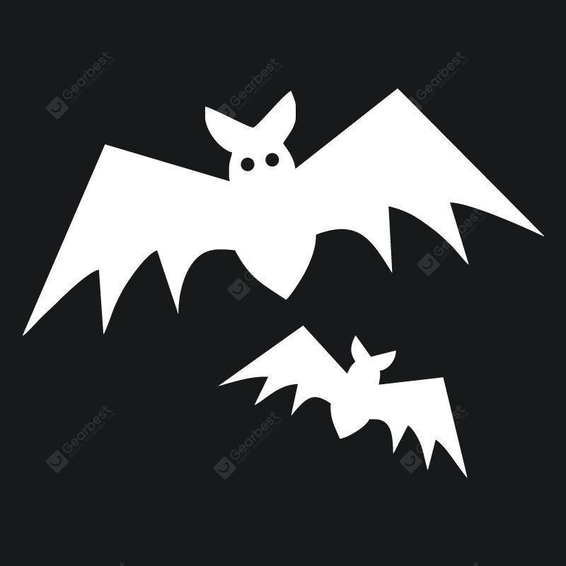 DSU Cartoon Creative Bat Car Sticker 2PCS