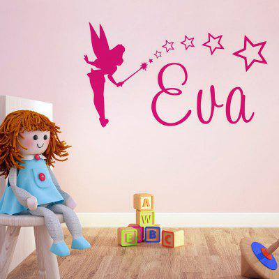 DSU Cute Small Fairy Wall Sticker Decal Art for Baby Nursery