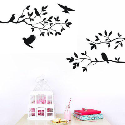 DSU Tree Branch with Birds Decal Removable Wall Sticker