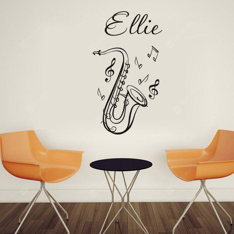 DSU Music Classroom Decorative Wallpaper Saxophone European Style Creative Wall Sticker