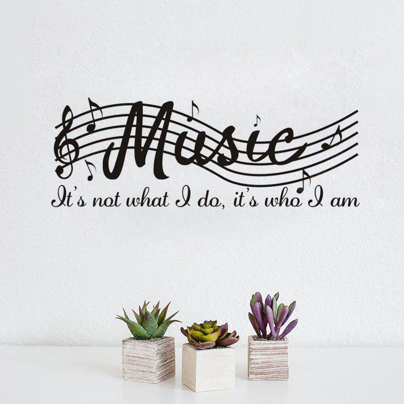 DSU Music Note Decal Removable Wall Sticker