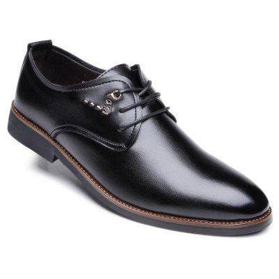 Men New Outdoor Walking Trend For Fashion Leather Business Black Wedding Shoes