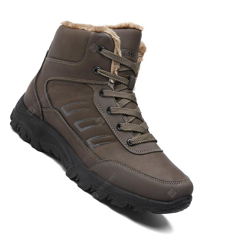 Men Casual Winter Warm Rubber Trend for Fashion Lace Up Suede Ankle Boots