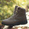 Men Casual Winter Warm Rubber Trend for Fashion Lace Up Suede Ankle Boots - BROWN