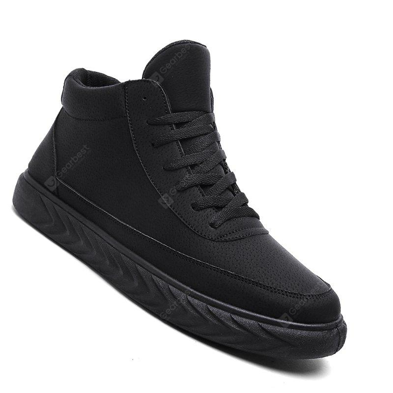 Men Casual Winter Warm Rubber Trend for Fashion Leather Lace Up Ankle Boots