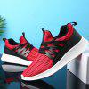 Man Running Shoes Cushion Jogging Breathable Hiking Walking Fashion Outdoor Sneakers - RED