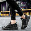 Man Running Shoes Lightweight Sport Cushion Fitness Jogging Breathable Hiking Walking Fashion Outdoor Sneakers - BLACK