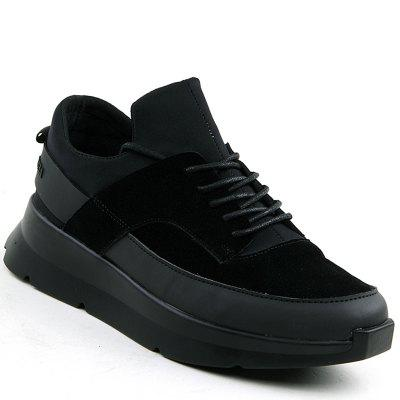 Buy BLACK 44 Men Running Height Increase Couple Athletic Shoes Cushioning Sneakers Sports for $36.81 in GearBest store