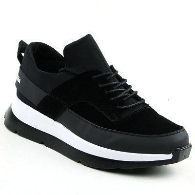 Buy BLACK WHITE 44 Men Running Height Increase Couple Athletic Shoes Cushioning Sneakers Sports for $36.81 in GearBest store
