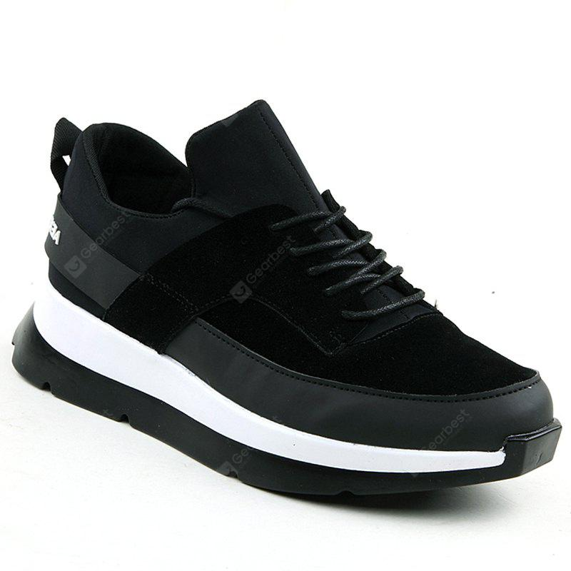 BLACK WHITE 41 Men Running Height Increase Couple Athletic Shoes Cushioning Sneakers Sports