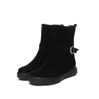 Casual Frosted Round Head Thicken Warm Flat Bottom Short BootsWomens Boots<br>Casual Frosted Round Head Thicken Warm Flat Bottom Short Boots<br><br>Boot Height: Mid-Calf<br>Boot Type: Snow Boots<br>Closure Type: Slip-On<br>Embellishment: Letter<br>Gender: For Women<br>Heel Height: 3<br>Heel Height Range: Low(0.75-1.5)<br>Heel Type: Flat Heel<br>Insole Material: PU<br>Lining Material: Plush<br>Outsole Material: Rubber<br>Package Contents: 1xShoes?pair?<br>Pattern Type: Solid<br>Platform Height: 3<br>Season: Winter, Spring/Fall<br>Shoe Width: Wide(C/D/W)<br>Toe Shape: Round Toe<br>Upper Material: Microfiber<br>Weight: 0.8500kg