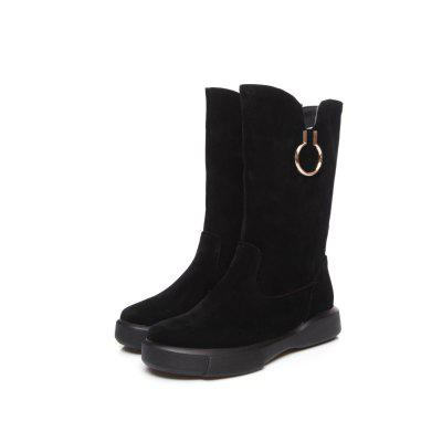 Snow Boots Plush LeisureWomens Boots<br>Snow Boots Plush Leisure<br><br>Boot Height: Mid-Calf<br>Boot Type: Snow Boots<br>Closure Type: Slip-On<br>Gender: For Women<br>Heel Height: 3<br>Heel Height Range: Low(0.75-1.5)<br>Heel Type: Flat Heel<br>Insole Material: PU<br>Lining Material: Plush<br>Outsole Material: Rubber<br>Package Contents: 1xShoes?pair?<br>Pattern Type: Solid<br>Platform Height: 3<br>Season: Spring/Fall, Winter<br>Shoe Width: Wide(C/D/W)<br>Toe Shape: Round Toe<br>Upper Material: Microfiber<br>Weight: 0.9000kg