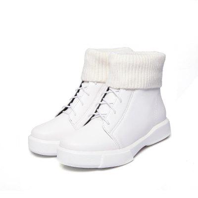 Casual Short Leg Plush BootsWomens Boots<br>Casual Short Leg Plush Boots<br><br>Boot Height: Ankle<br>Boot Type: Fashion Boots<br>Closure Type: Lace-Up<br>Gender: For Women<br>Heel Height: 3<br>Heel Height Range: Low(0.75-1.5)<br>Heel Type: Flat Heel<br>Insole Material: PU<br>Lining Material: Plush<br>Outsole Material: Rubber<br>Package Contents: 1xShoes?pair?<br>Pattern Type: Solid<br>Platform Height: 3<br>Season: Spring/Fall, Winter<br>Shoe Width: Wide(C/D/W)<br>Toe Shape: Round Toe<br>Upper Material: PU<br>Weight: 0.8900kg