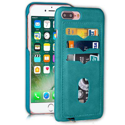 IPhone 8 Plus / 7 Plus Custodia in Pelle PU Rigida Colore Compatto e Contenitore Carte sul Retro