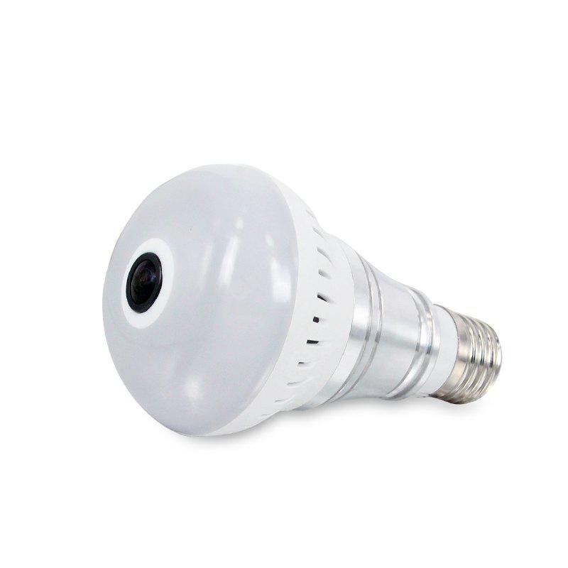 360 Degree Panoramic Home Wireless Network High-Definition Surveillance WiFi Remote Monitoring Light Bulb Camera