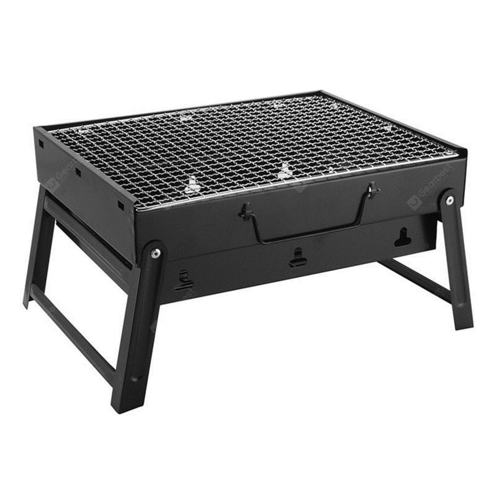 portable charcoal barbecue stove for outdoor family picnic stainless steel grill free. Black Bedroom Furniture Sets. Home Design Ideas