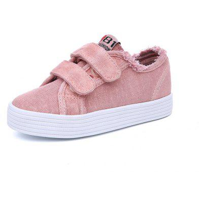 New Boys and Girls Solid Color Lazy Students Canvas Shoes