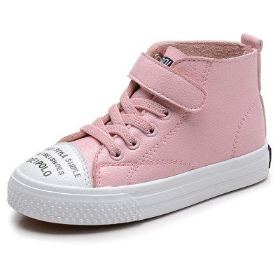 New Style Boys and Girls Leisure High Tie Leather Shoes