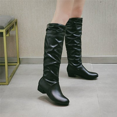 Female Round Toe Solid Knee High Boots Charming Women Shoes Girls Square Low Heel BootsWomens Boots<br>Female Round Toe Solid Knee High Boots Charming Women Shoes Girls Square Low Heel Boots<br><br>Boot Height: Knee-High<br>Boot Tube Circumference: 37<br>Boot Tube Height: 39<br>Boot Type: Fashion Boots<br>Closure Type: Slip-On<br>Gender: For Women<br>Heel Height: 3<br>Heel Height Range: Low(0.75-1.5)<br>Heel Type: Low Heel<br>Package Contents: 1 x Shoes (pair)<br>Pattern Type: Solid<br>Season: Winter<br>Toe Shape: Round Toe<br>Upper Material: PU<br>Weight: 1.2320kg