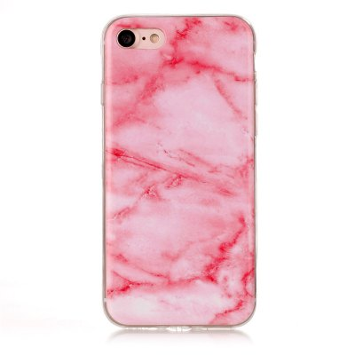Buy Marble Pattern TPU Back Cover Case for iPhone 8 Pink PINK for $1.92 in GearBest store