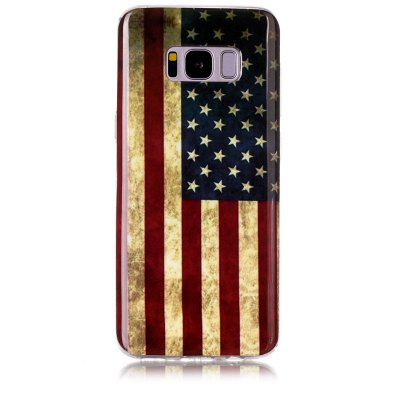 Buy MULTICOLOR Retro Pattern Soft TPU Anti-scratch Back Cover Case for Samsung S8 for $10.21 in GearBest store