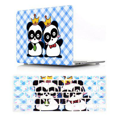 Computer Shell Laptop Case Keyboard Film Set for MacBook Pro 15.4 Inch -3D Double Panda