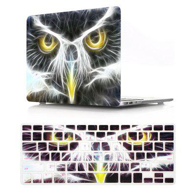 Computer Shell Laptop Case Keyboard Film Set for MacBook Pro 15.4 Inch -3D Eagle Head