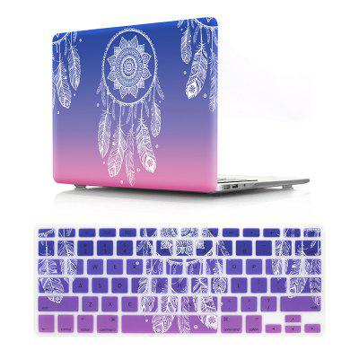 Computer Shell Laptop Case Keyboard Film Set for MacBook Retina 12 inch -3D Dream Catcher Gradient Purple