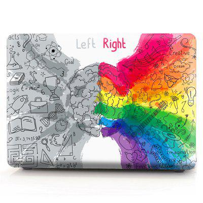Computer Shell Laptop Case Keyboard Film Set for Macbook Pro 13.3 Inch -3D Rainbow Left And Right Brain