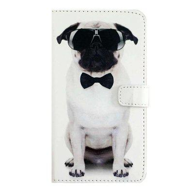 Cool Dog Pattern PU Leather Wallet Stand Phone Cover para Samsung Galaxy Note 8