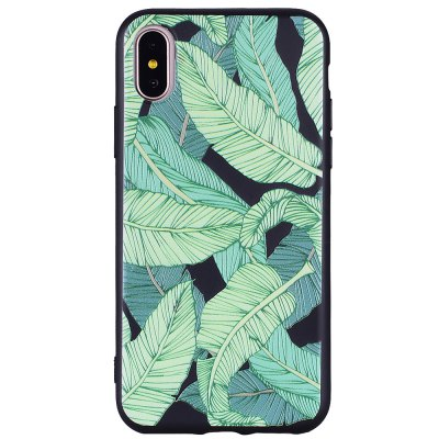 Green Leaf Pattern Mobile Phone Shell para iPhone X