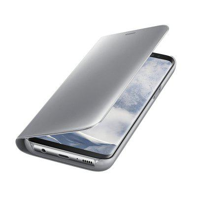 PU Leather Smart Clear View Flip Cover with Kickstand for Samsung Galaxy S8 Plus