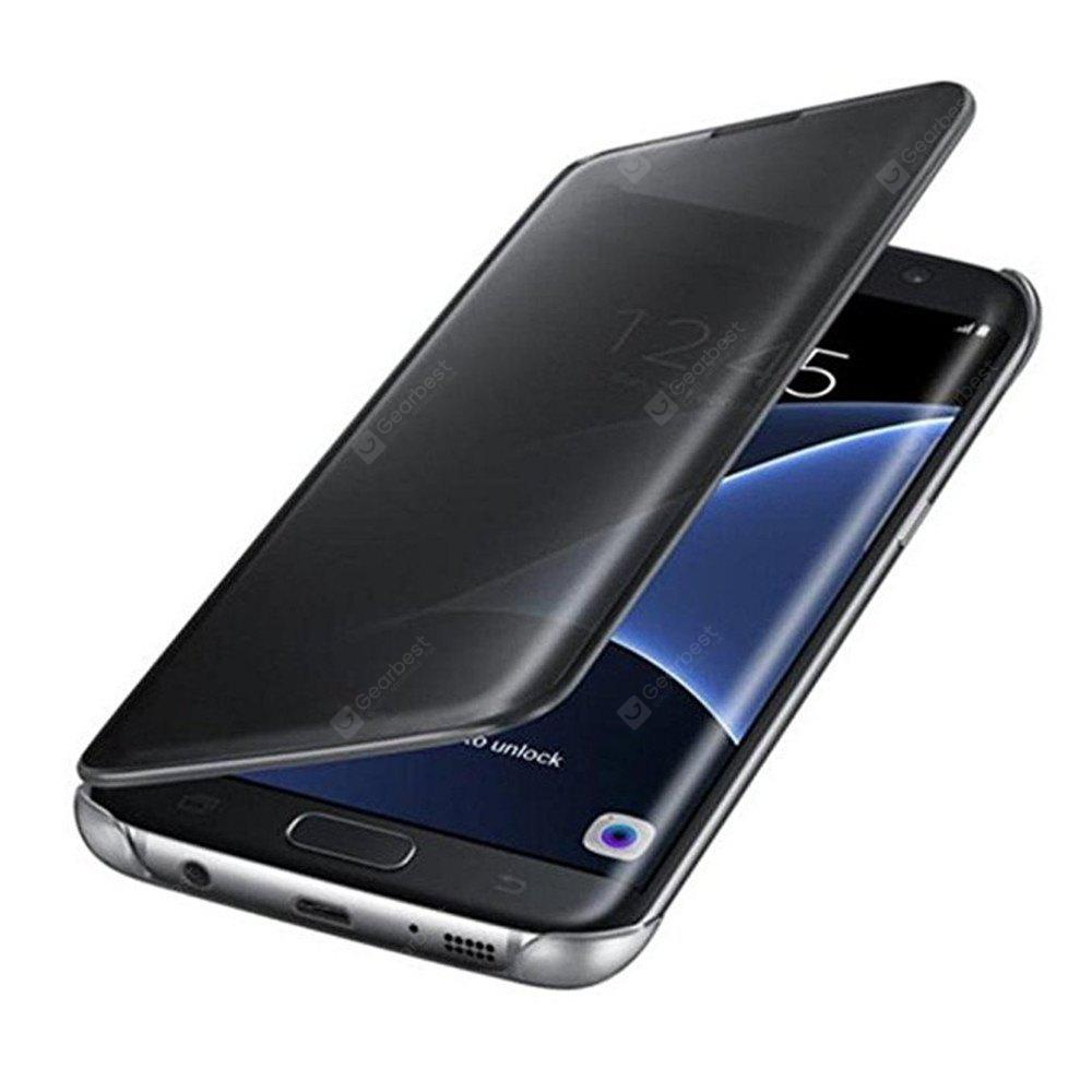 Luxury Clear View Mirror Flip Smart Case Cover For Samsung Galaxy S7 Edge