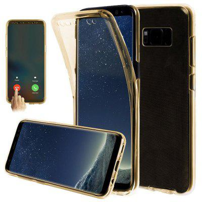 360 Degree Shockproof Front Back Cover Clear Full Body TPU Protective Case for Samsung Galaxy S8 Plus