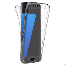 360 Degree Shockproof Front Back Cover Clear Full Body TPU Protective Case for Samsung Galaxy S7 Edge