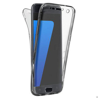Buy BLACK 360 Degree Shockproof Front Back Cover Clear Full Body TPU Protective Case for Samsung Galaxy S7 Edge for $3.29 in GearBest store