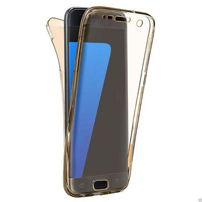Buy GOLDEN 360 Degree Shockproof Front Back Cover Clear Full Body TPU Protective Case for Samsung Galaxy S7 Edge for $3.29 in GearBest store