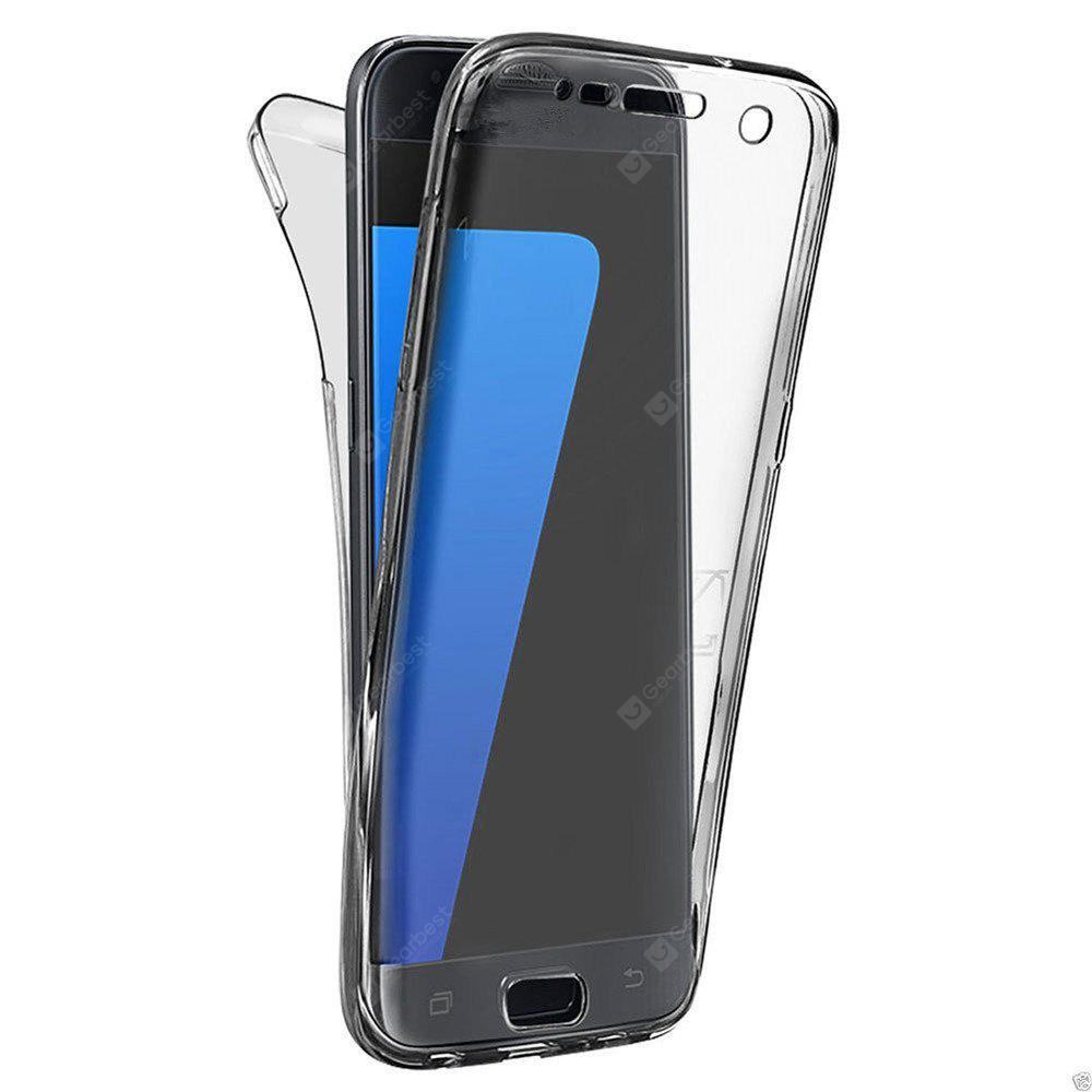 360 Degree Shockproof Front Back Cover Clear Full Body TPU Protective Case for Samsung Galaxy S7