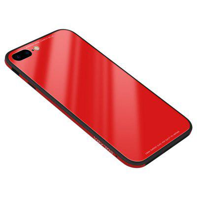9H Hard Glass Back ProtectorSoft Silicone + Metal Aluminium Bumper Phone Case Cover for iPhone 7 Plus / 8 Plus