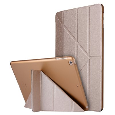 Buy GOLDEN For iPad 2017 Case Model A1822 A1823 9.7 Inch Soft Tpu Leather Surface Cover Flip Stand Safe Smart for $9.00 in GearBest store