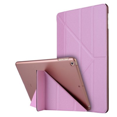 Buy PINK For iPad 2017 Case Model A1822 A1823 9.7 Inch Soft Tpu Leather Surface Cover Flip Stand Safe Smart for $9.00 in GearBest store